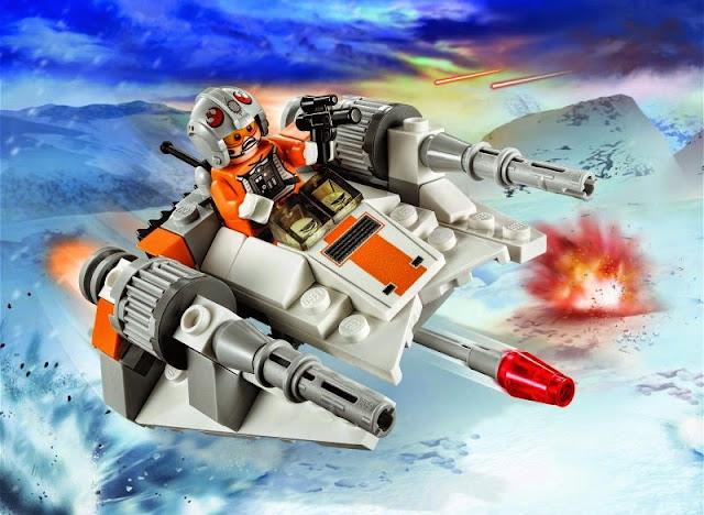 Toàn cảnh của bộ đồ chơi Lego Star Wars 75074 Tàu Trượt Tuyết Snowspeeder
