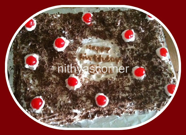 Eggless Black Forest Cake Recipe