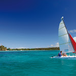 Sailing from the beach