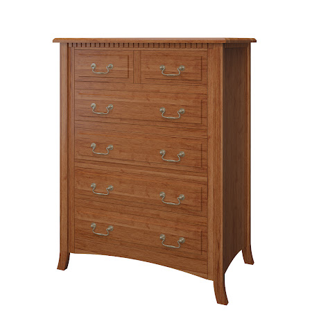 Lisbon Vertical Dresser in Itasca Maple