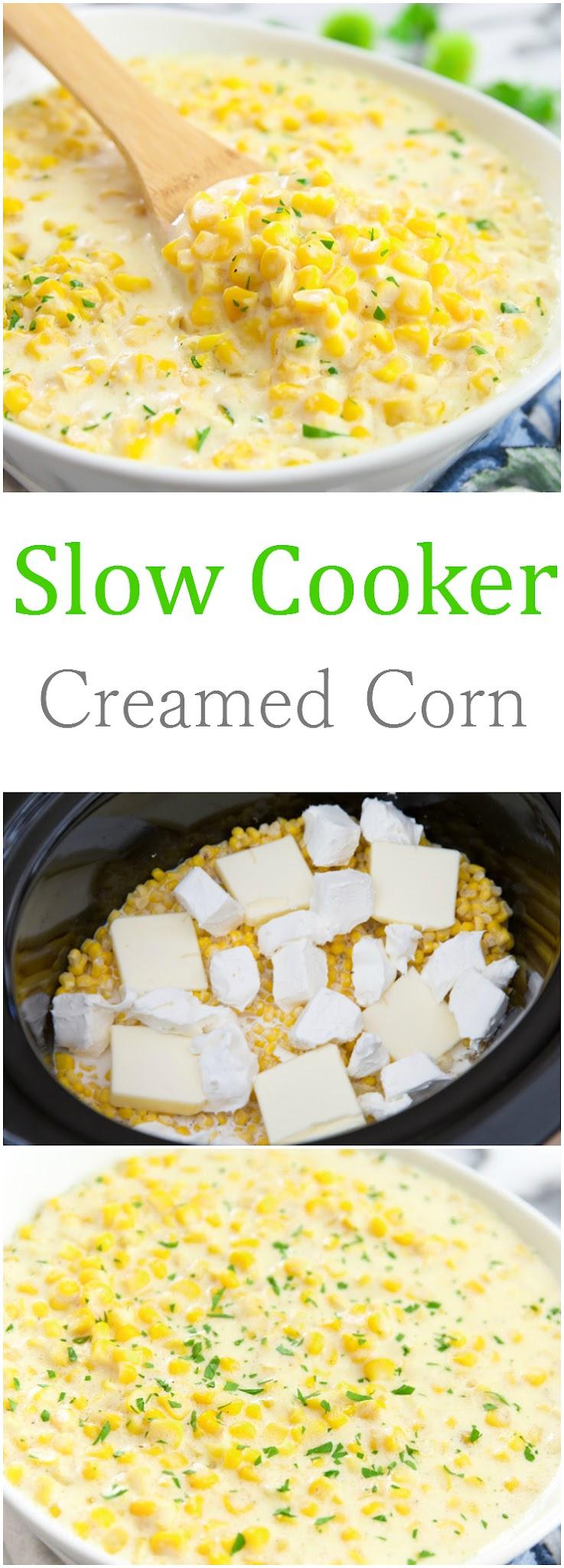 Slow Cooker Creamed Corn - Kirbie's Cravings