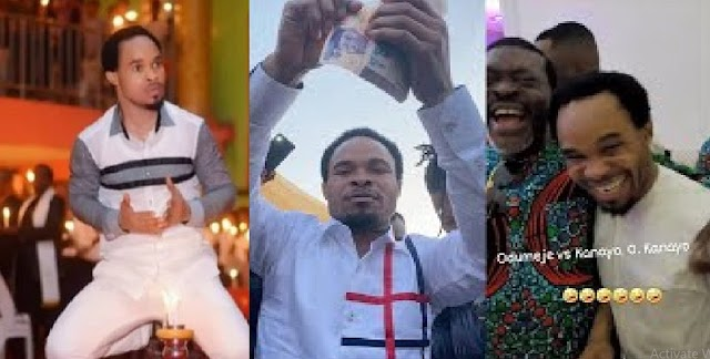 Prophet Odumeje Cries out After A Man Allegedly Touched Him With 'Juju' At Obi Cubana's Mom's Burial [Video]