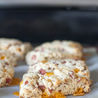 Ham and Cheese Oatmeal Scones