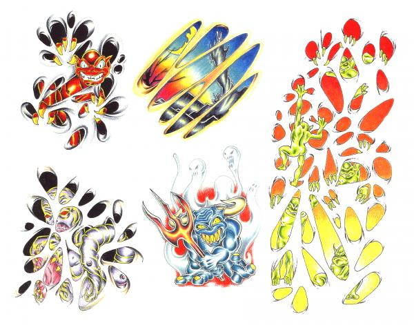 Design Of Horror Tattoo 10, Fantasy Tattoo Designs