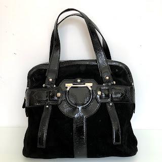 Salvatore Ferragamo Suede Leather Handbag