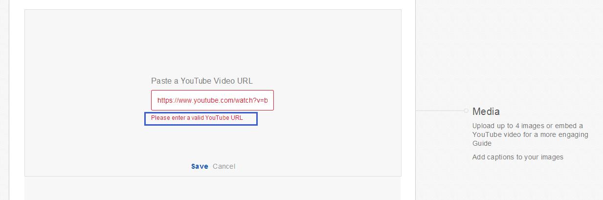 "Getting error on Ebay ""Please enter a valid YouTube URL"" - Google ..."