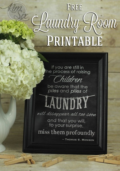 Free Laundry Room Kids Printable