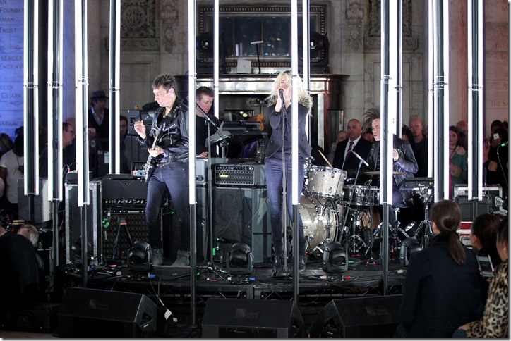 NEW YORK, NY - FEBRUARY 13:  The Kills perform onstage during the  Philipp Plein Fall/Winter 2017/2018 Women's And Men's Fashion Show at The New York Public Library on February 13, 2017 in New York City.  (Photo by Thomas Concordia/Getty Images for Philipp Plein)