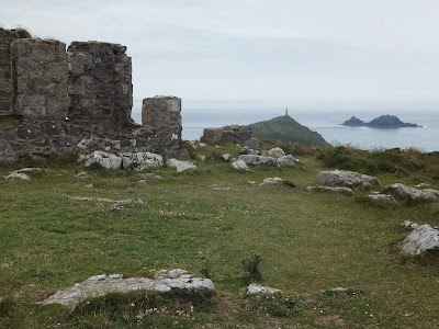Looking towards Cape Cornwall from chapel ruins