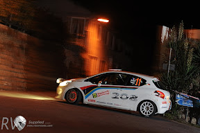 Brian Buffier in the new Peugeot 208 at the IRC Rally San Remo (Photo IRC)
