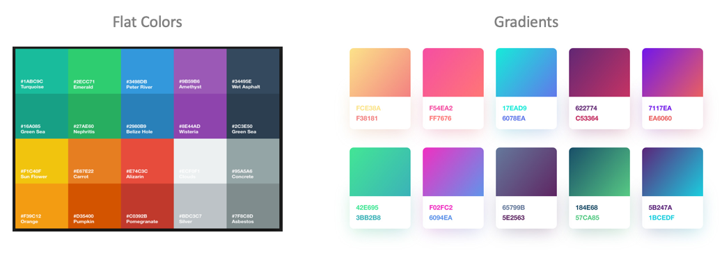 From flat UI colors to flat 2.0 gradients - design trends