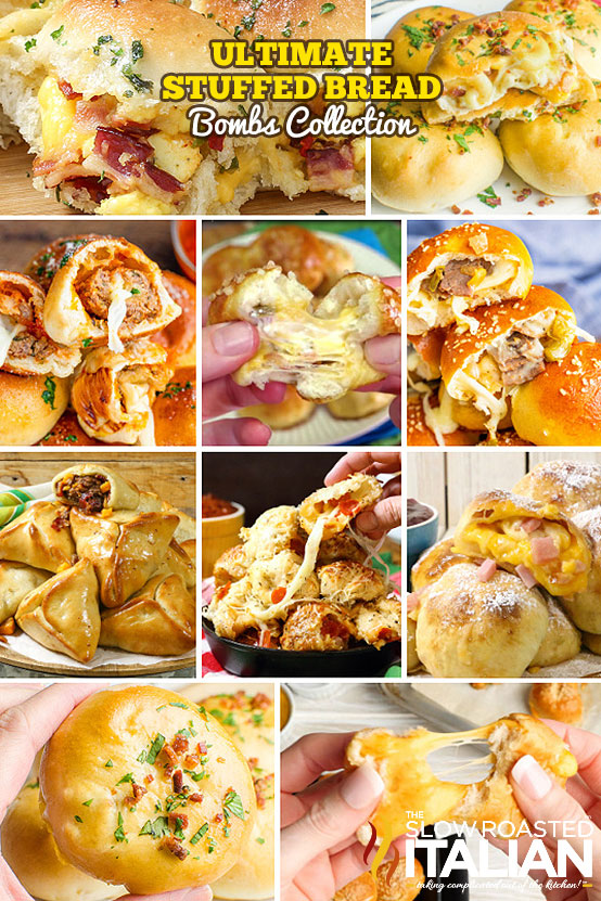 Ultimate Stuffed Bread Bombs Collection Collage