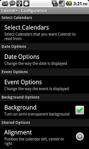 Calendr+ screenshot 2