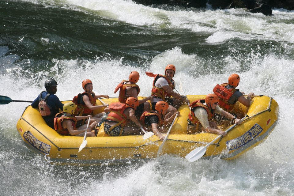 Rafting on the Zambezi