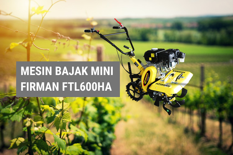 Alat Mesin Bajak Mini untuk Petani Pengolah Ladang Kering