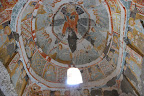 Some of the churches are covered with colorful frescoes.