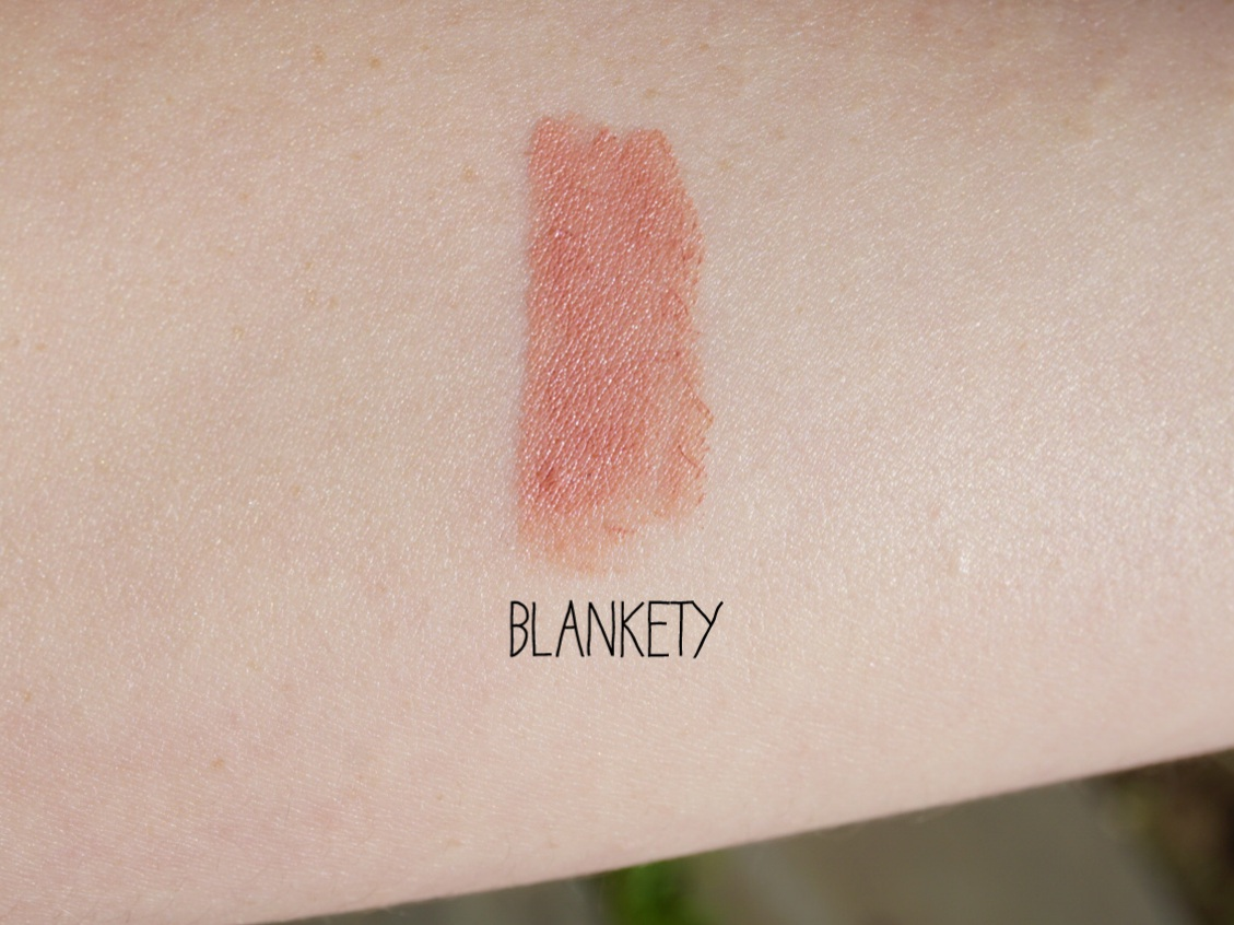 mac blankety amplified lipstick swatch review
