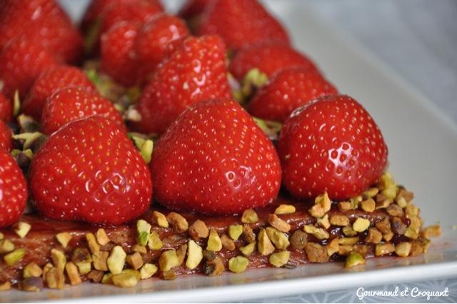 tarte fraises-pistaches