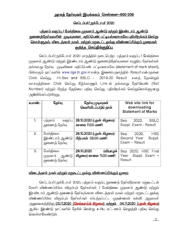 10th,11th,12th September Supplementary Exam Details