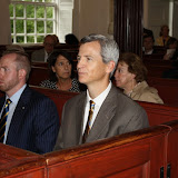 Brian Duffy, CCBA President-Elect, waits for the ceremony to begin.