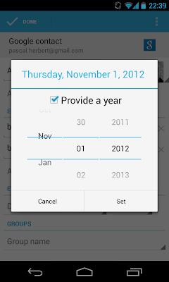 Der Dezember fehlt bei der Auswahl beim Einfügen von Ereignissen in der Kontakte App