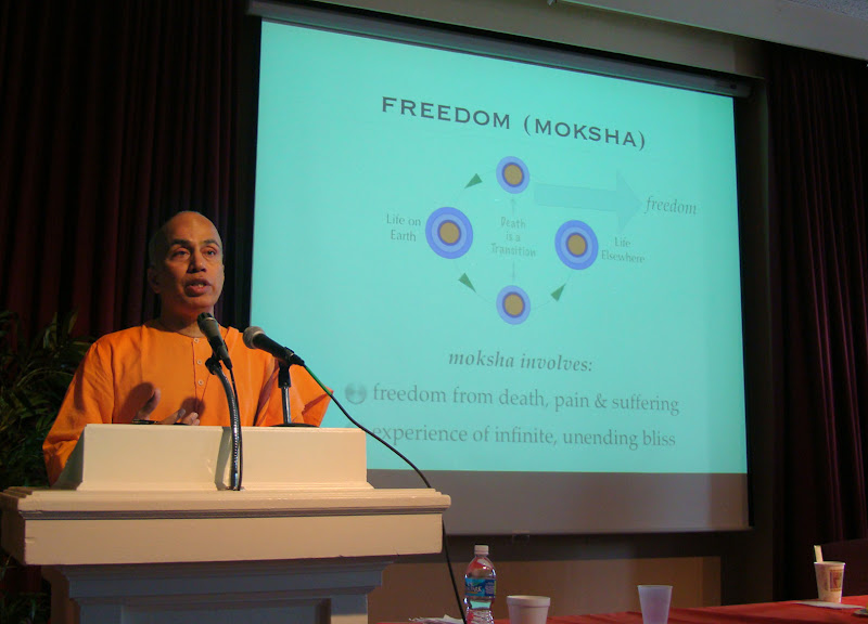 Swami Tyagananda led the Labor Day Weekend retreat in 2009