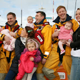 Proud mums and dads enjoying the moment with Poole Lifeboat Station's new generation 25 January 2014 Photo: RNLI Poole/Rob Inett