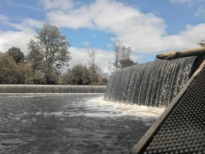 Le barrage de l'Âme vu depuis la passe à anguilles