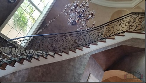 Wrought-Iron-Stair-Rail(SR-128a)