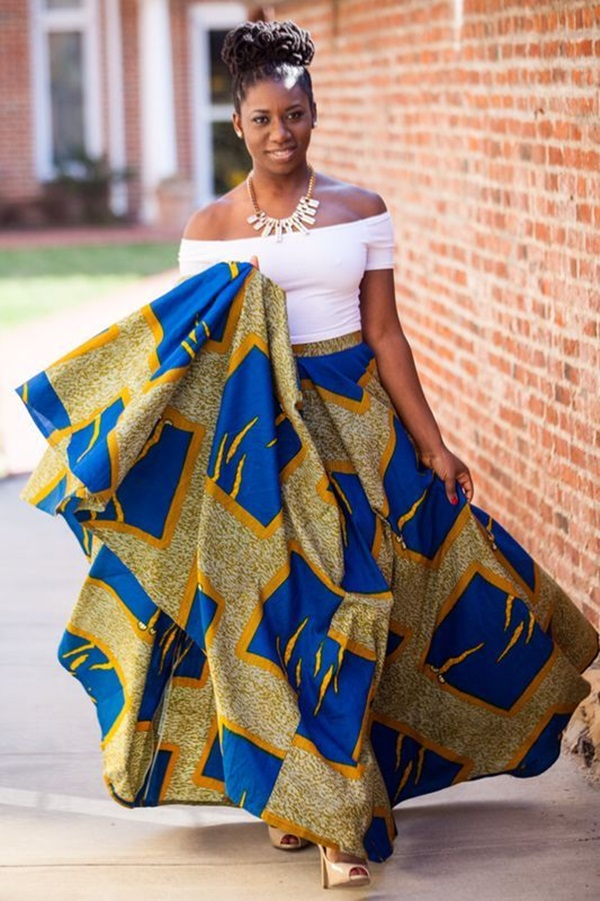 African cultural and ethnic clothing is identified by the bright colors used. The designs feature two to five colors, all of which are analogous. You can find many styles of .