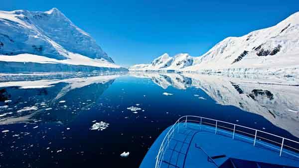 La Antártida paisaje