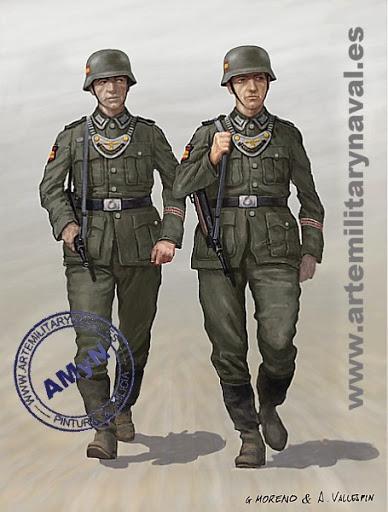 División Azul. Pareja de la Guardia Civil