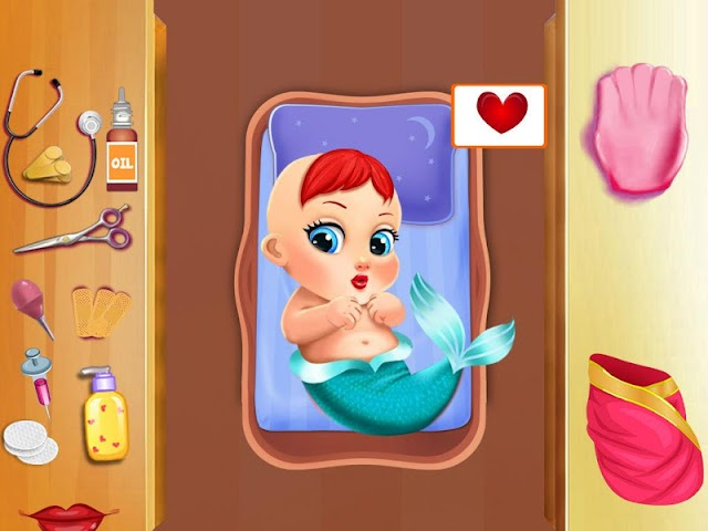 android Mermaid Mommy's New Baby-Care Screenshot 5