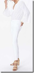 NYDJ Stretch white jeans