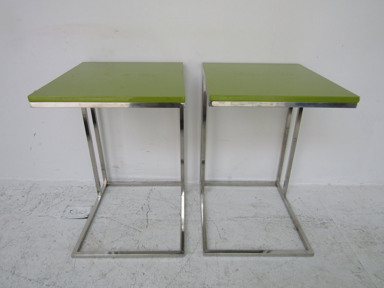 Contemporary Side Table Pair