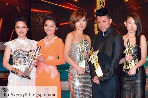 五個大獎,英皇攞走三個,無綫最後將「金曲金獎」分了給東亞的王菀之。
