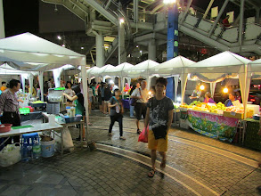 Photo: Night market outside the MBK shopping mall