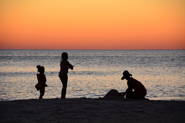Children Play at Sunset