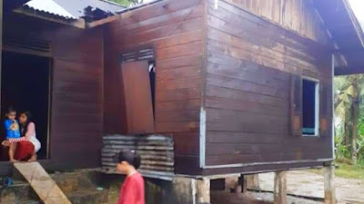 Angin Puting Beliung Rusak Sejumlah Rumah di Bangkinang
