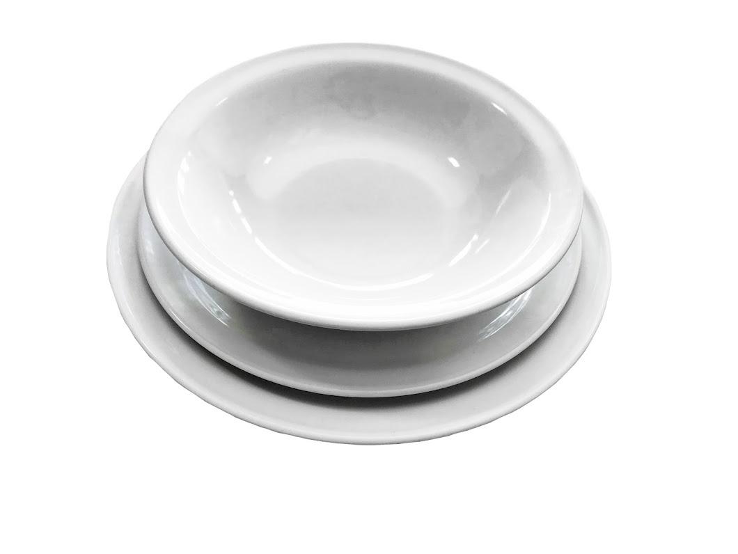vajillas blanca redonda, alquiladora puebla, renta de mobiliario