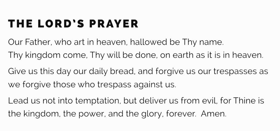 lord teach us to pray matthew