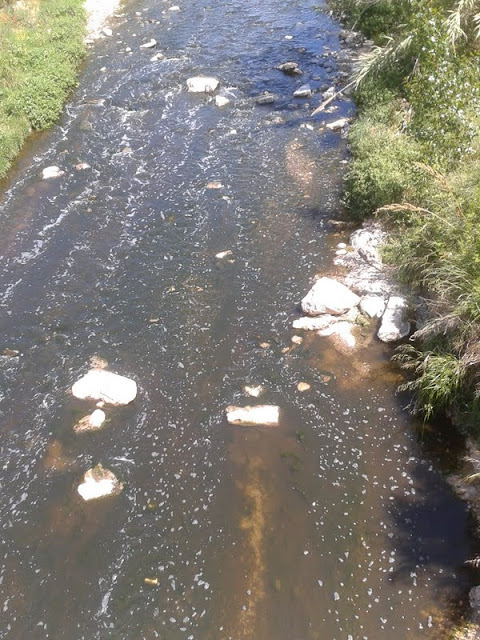Aigua bruta baixant pel riu