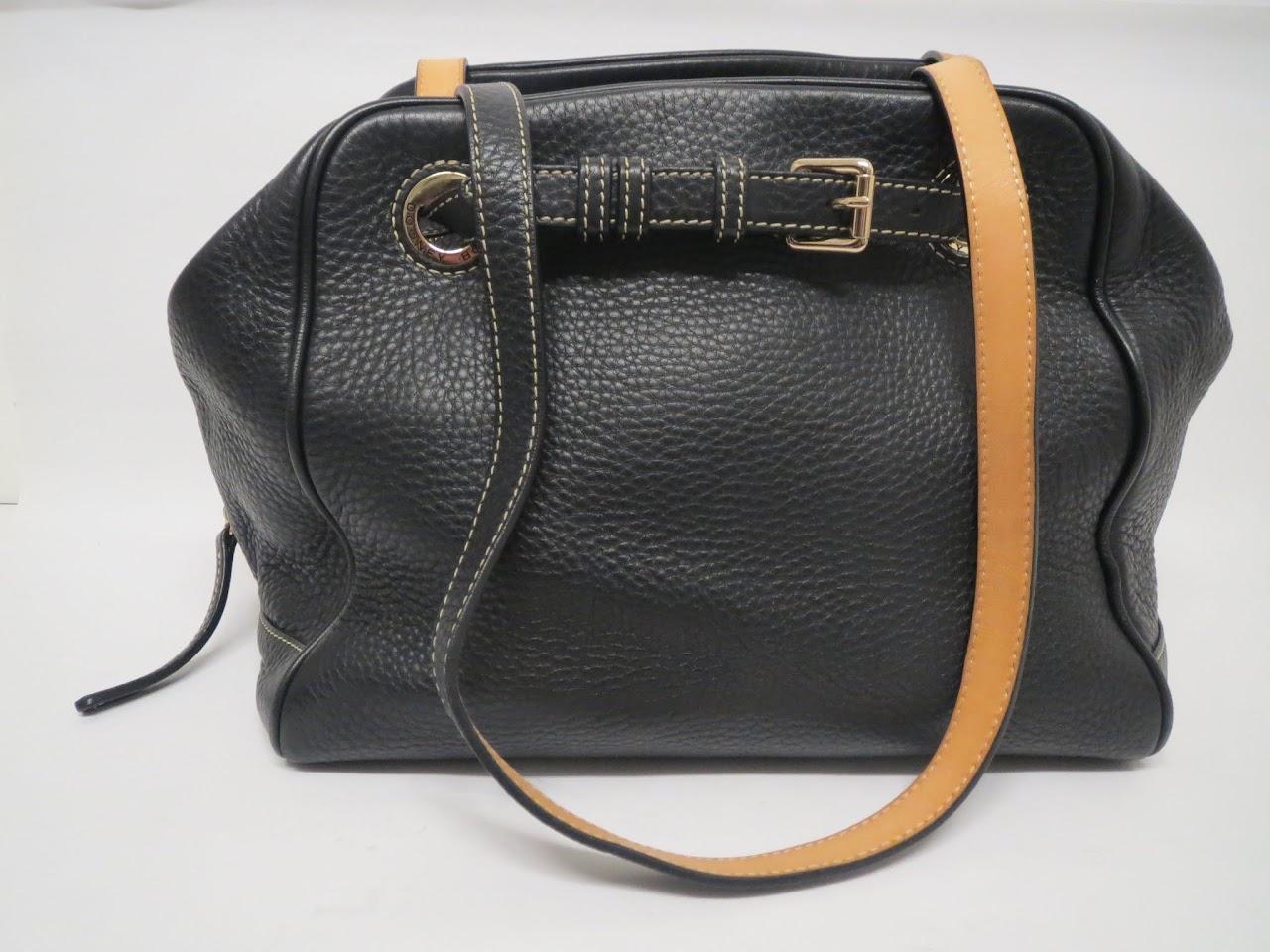 Dooney & Bourke Black Pebbled Leather Shoulder Bag