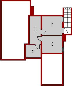 Nastka G1 z piwnicą - Rzut piwnicy
