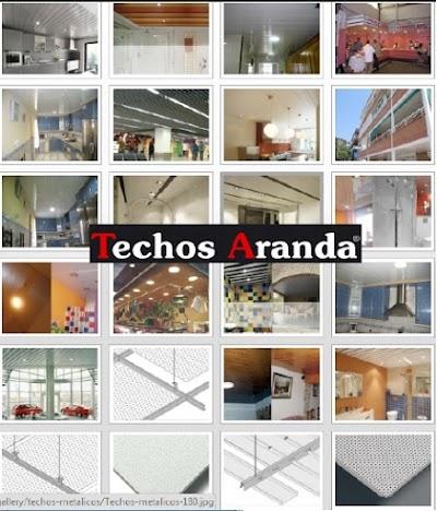 Imagenes de techos de aluminio para baños Madrid