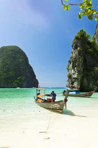 Longtail boat anchoring at Ao Noi beach. From The Big Trip: Your Ultimate Guide to Gap Years and Overseas Adventures