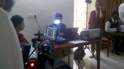 BBC Click, India edition filming - Aadhaar