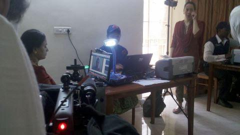 BBC Click, India edition filming - Aadhaar