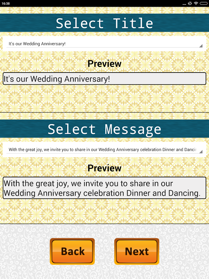 Anniversary invitation Maker Party Wedding wishes - Android Apps ...