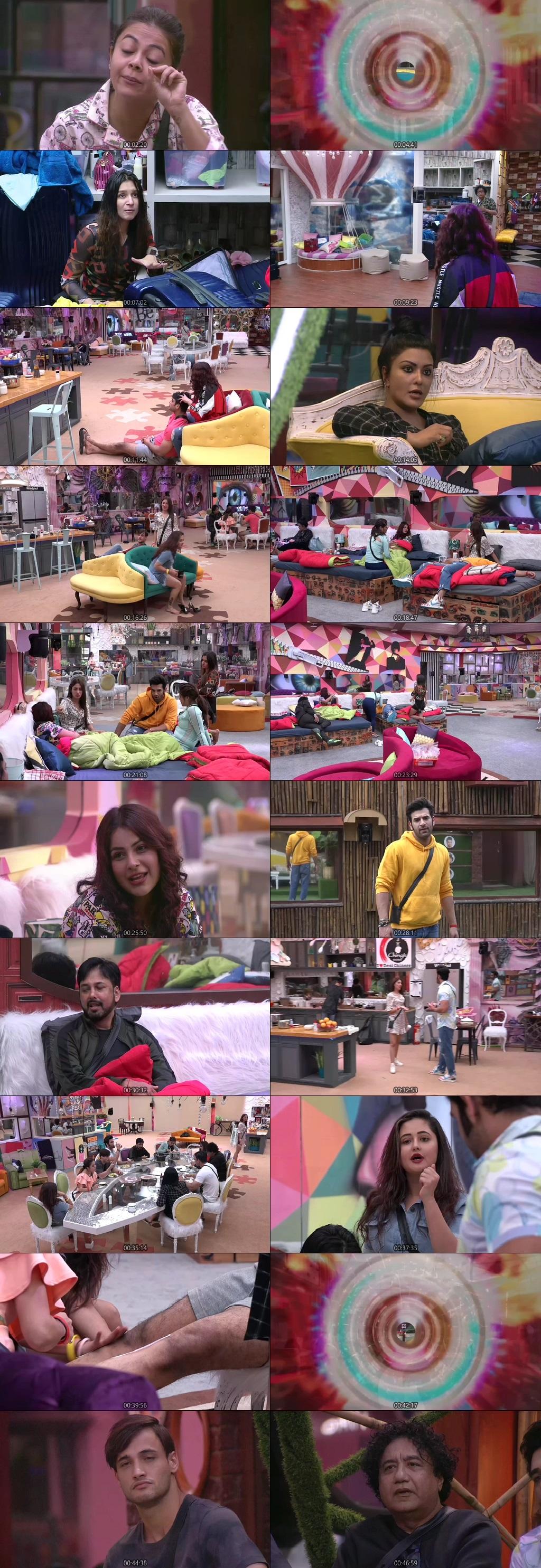 Screenshots Of Hindi Show Bigg Boss 13 4th October 2019 Episode 05 300MB 480P HD